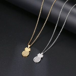Jewelry - Gold and Silver Stainless Steel Pineapple Necklace